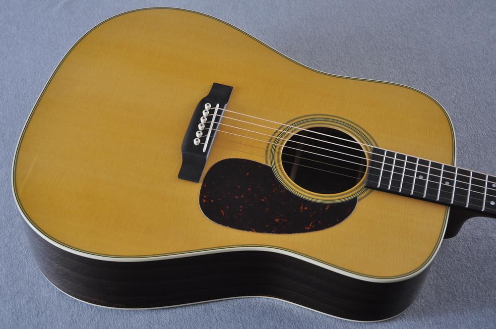 Martin Custom Shop D-28 (2017) Ziricote Rosewood Dreadnought Acoustic Guitar #2142391 - Top