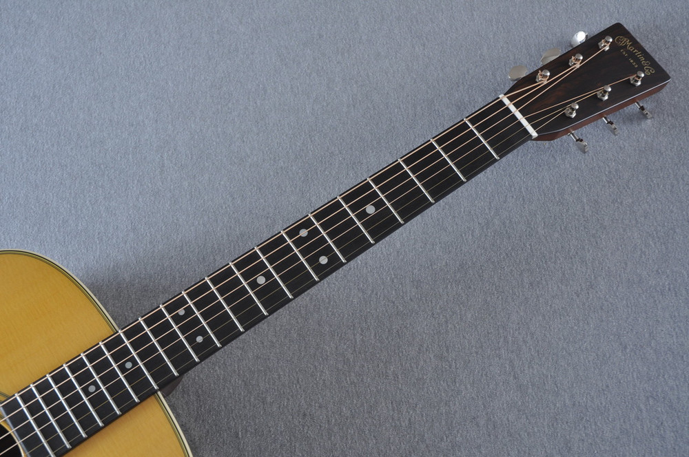 Martin Custom Shop D-28 (2017) Ziricote Rosewood Dreadnought Acoustic Guitar #2142391 - Neck