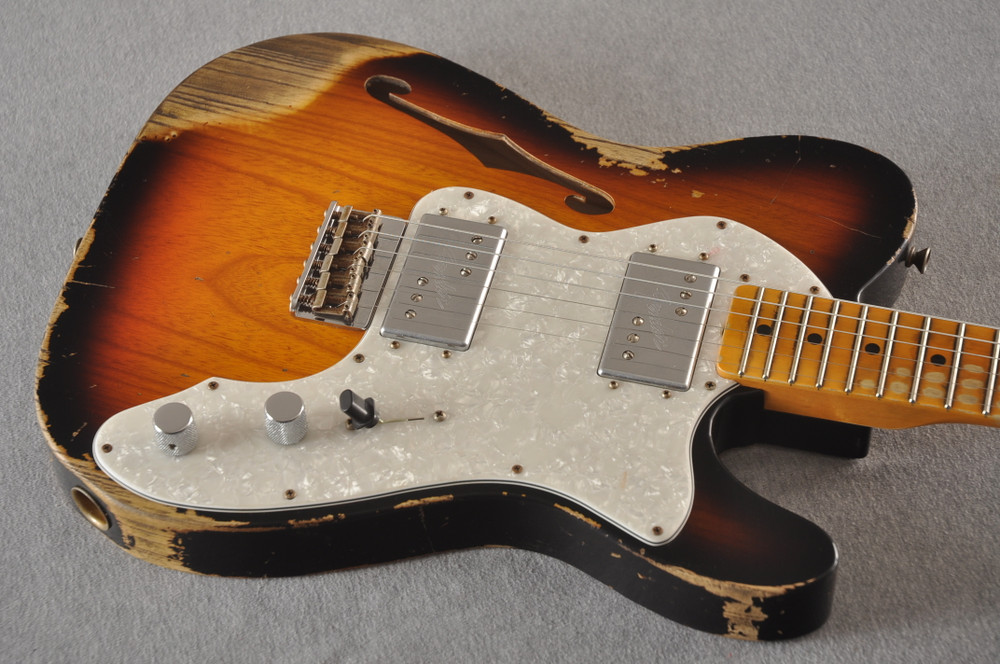 Fender Telecaster Thinline '72 Heavy Relic Sunburst Ltd Edition - View 8