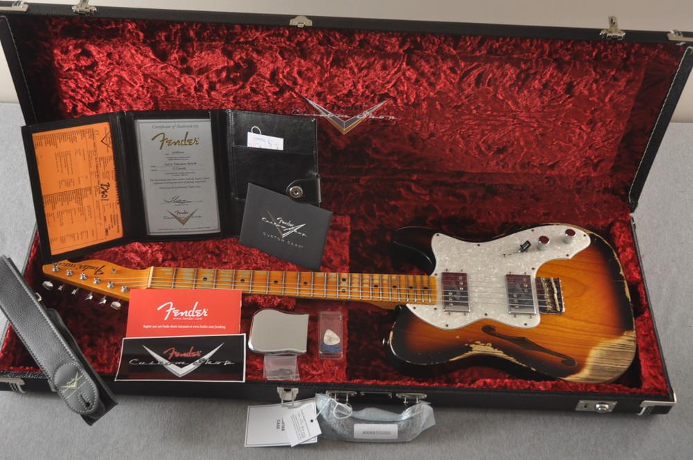 Fender Telecaster Thinline '72 Heavy Relic Sunburst Ltd Edition - View 2