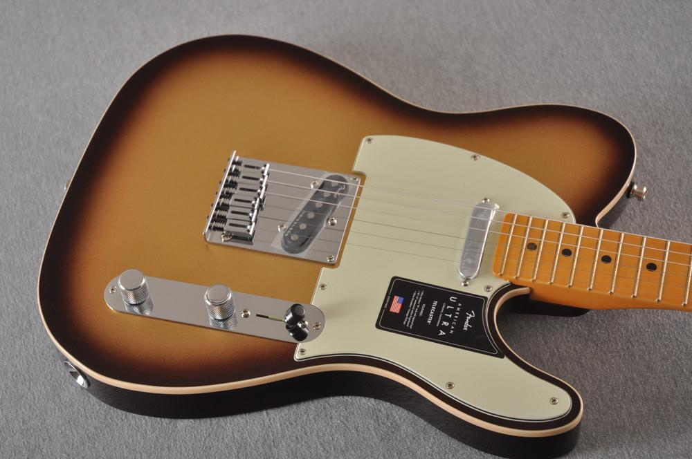 Fender American Ultra Telecaster Electric Guitar - Mocha Burst - View 7