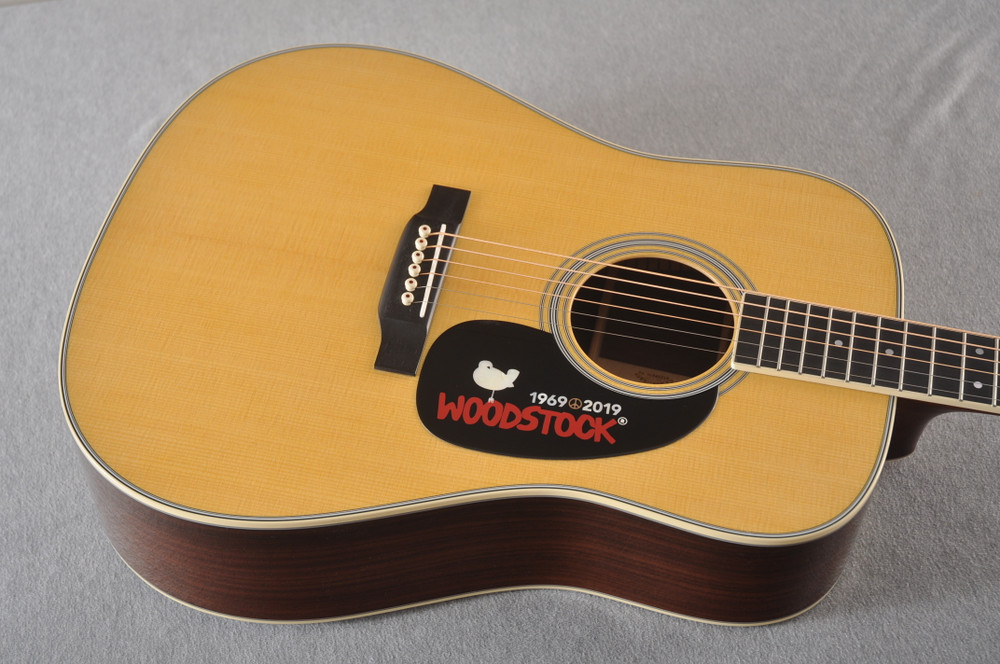 Martin D-35 Woodstock 50th Anniversary Acoustic Guitar #2272407 - Top angle