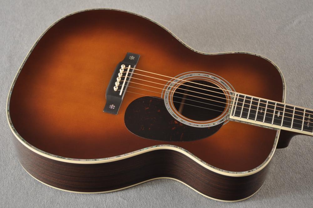 Martin Custom Style 42 OM Adirondack Ambertone #2260979 - Top Angle