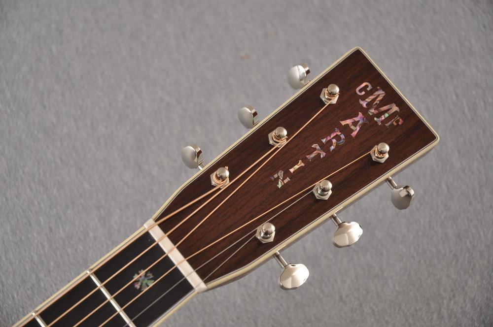 Martin Custom Style 42 OM Adirondack Sunburst #2260977 - Headstock