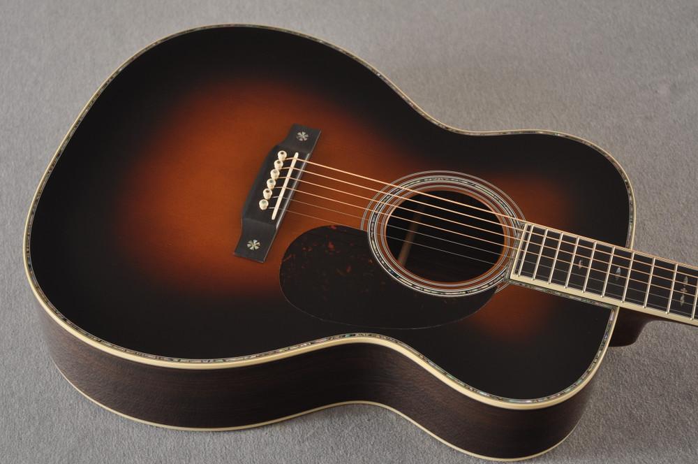 Martin Custom Style 42 OM Adirondack Sunburst #2260977 - Top Angle