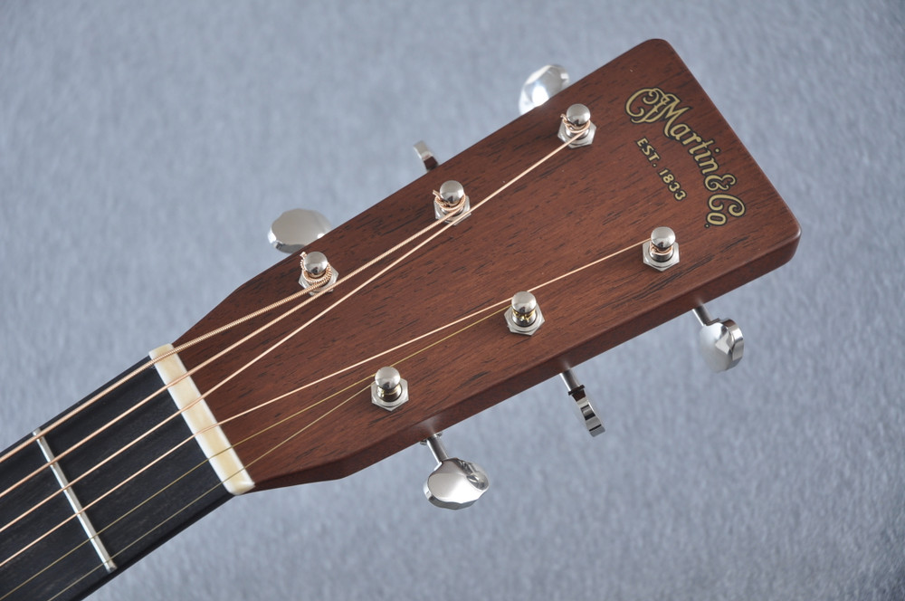 Martin Custom Madagascar Dreadnought Style 28 Acoustic #2142393 - Headstock