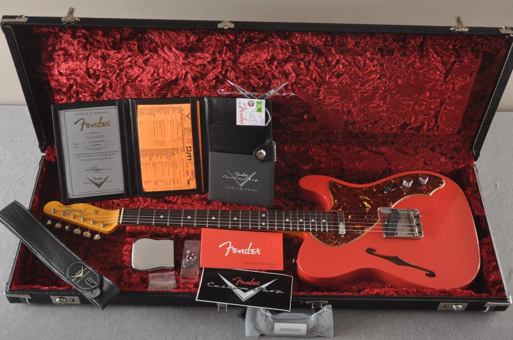 Fender Custom Shop '60s Telecaster Thinline Relic - Fiesta Red - View 2