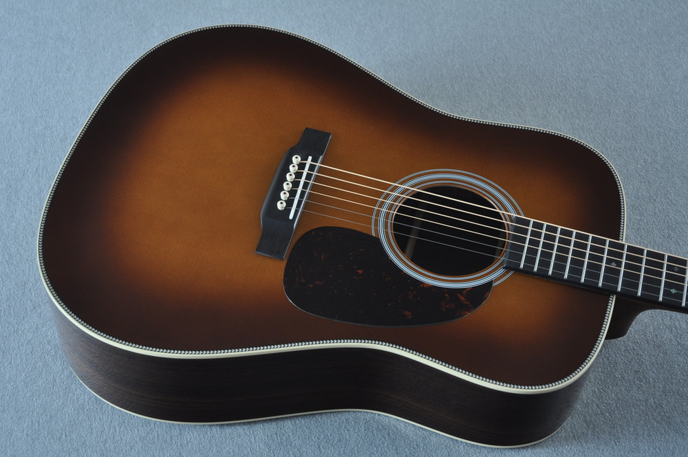 Martin HD-28 Ambertone Acoustic Guitar #2251550 - Top Angle