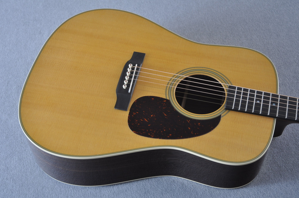 Used Martin Custom Dreadnought Style 28 Guitar #2210061 - Top Angle