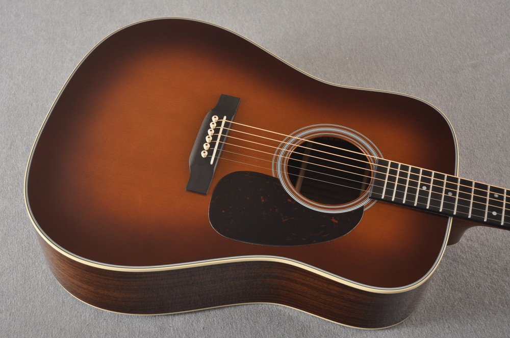 Martin 28 Style Custom Dreadnought Guitar Ambertone Adi #2260967 - Top Angle