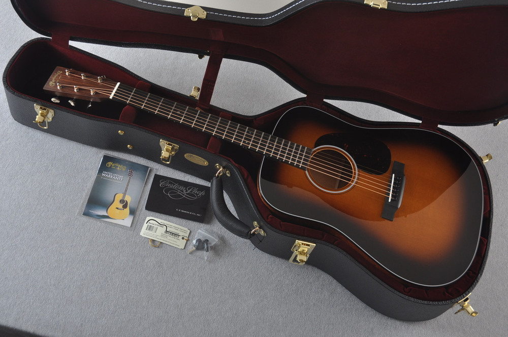 Martin Custom 18 Style Dreadnought Adi Sunburst Guitar #2193568 - Case