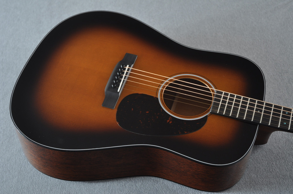 Martin Custom 18 Style Dreadnought Adi Sunburst Guitar #2193568 - Top Angle