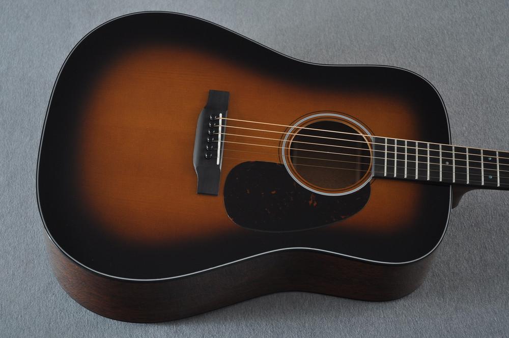 Martin Custom 18 Style Dreadnought Adi Sunburst Guitar #2193568 - Top