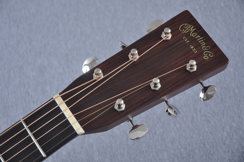 Martin Custom Shop OM-28 Guatemalan Rosewood Acoustic Guitar #2142388 - Headstock