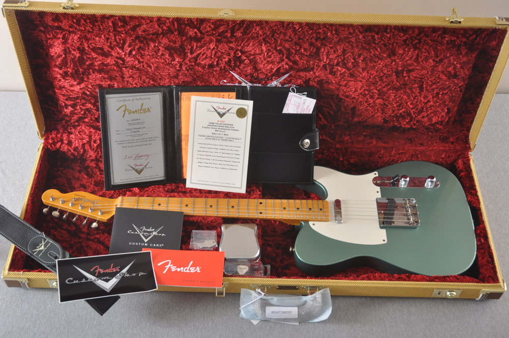 Fender Custom Shop 1956 Telecaster Relic Sherwood Green NAMM - View 2