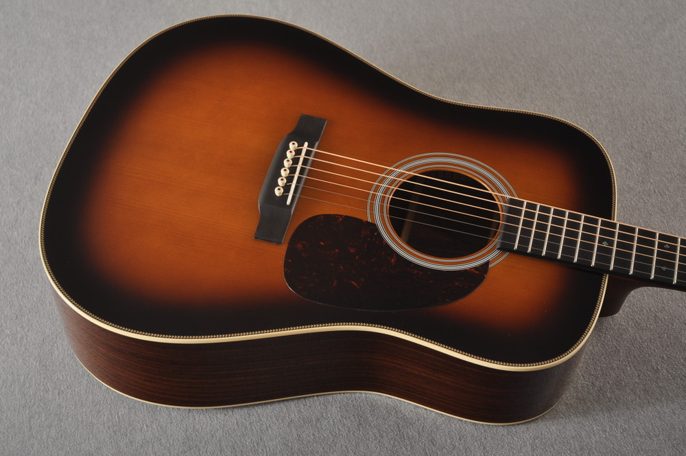 Martin Custom HD Style 28 Adi Wild Indian Rosewood Burst #2305131 - Top Angle