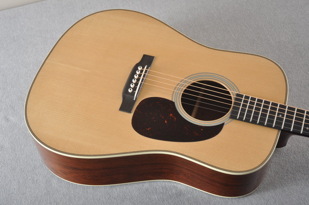 Martin D-28 Authentic 1937 VTS Dreadnought Guitar #2332789 - Top Angle
