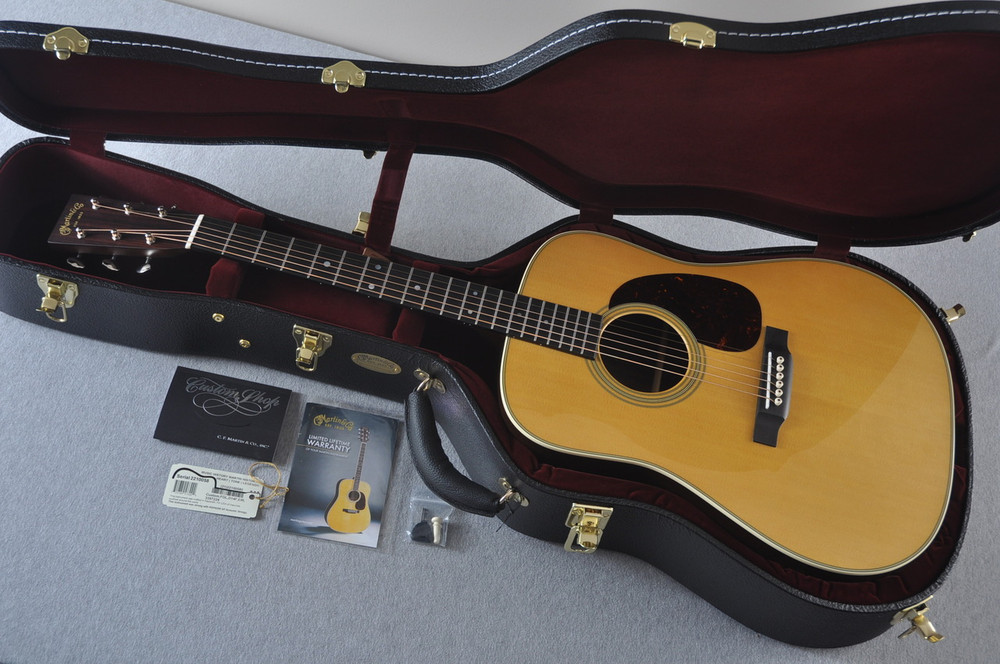 Martin Custom Shop D-28 Dark Indian Rosewood Acoustic Guitar #2210058  - Case