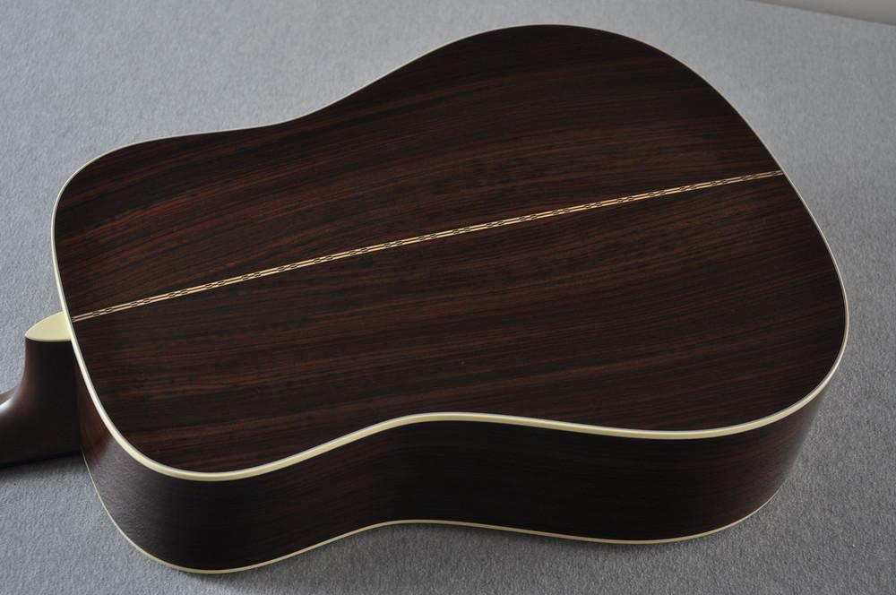 Martin Custom Shop D-28 Dark Indian Rosewood Acoustic Guitar #2210060 - Back Angle