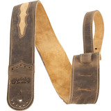 Martin Wingtip Brown Leather Guitar Strap - 18A0078
