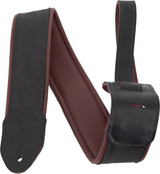 Martin Garment Leather Guitar Strap - Maroon Black - 18A0080