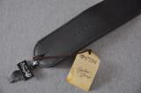 Custom Leather Guitar Strap - Deluxe Black - Martin 18A0029