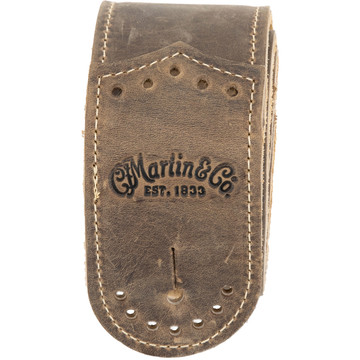 Martin Wingtip Brown Leather Guitar Strap - 18A0078 - View 2