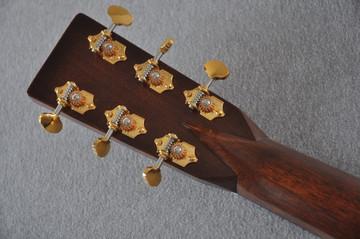 Martin OM-28 Modern Deluxe Acoustic Guitar #2246100 - Back Headstock