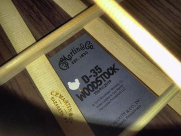 Martin D-35 Woodstock 50th Anniversary Acoustic Guitar #2267961 - Label