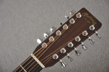 Martin Custom D12 12 String Style 28 Adirondack Sunburst #2372956 - Headstock