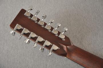 Martin Custom D12 12 String Style 28 Adirondack Sunburst #2372956 - Back Headstock