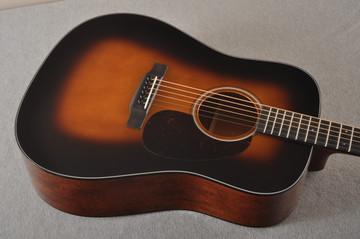 Martin Custom Dread Style 18 Adirondack Sunburst Guitar #2371539 -Top Angle