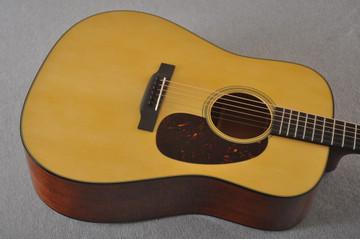 Martin Custom D Style 18 Adirondack Mahogany Dread #2386327 - Top Angle