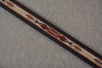 Leather Mandolin Strap - Black - El Dorado Kachina - Fits F & A