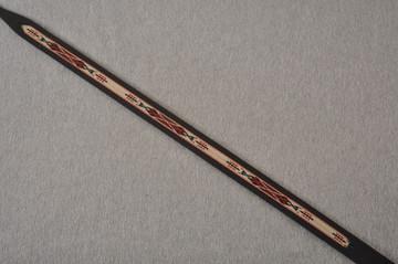 Leather Mandolin Strap - Black - El Dorado Kachina - Fits F & A - View 2