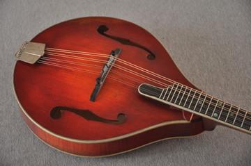 Eastman MD805/V Mandolin A Style Solid Adi Top Ebony Board - View 5