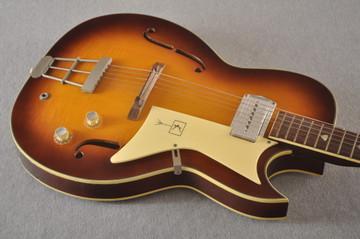 1960s Kay Galaxie Electric Guitar - Top Angle