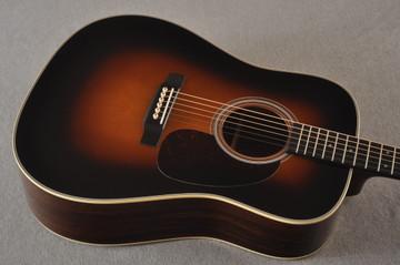 Martin D-28 Sunburst Standard Dreadnought Guitar #2522330 - Top Angle