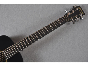 Little Martin LX Black Acoustic Guitar - Fretboard View