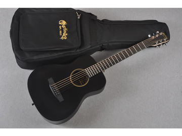 Little Martin LX Black Acoustic Guitar - Gigbag View