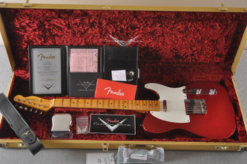 Fender Custom Shop 1957 Telecaster Relic Candy Apple Red - View 2