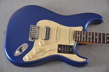 Fender American Ultra Stratocaster HSS Guitar - Cobra Blue - View 7