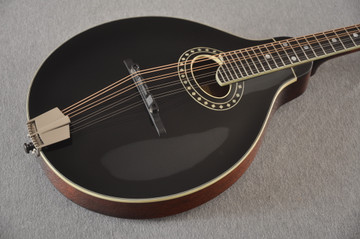 Eastman MD404 Black Mandolin A Style Oval Hole Solid Spruce Top