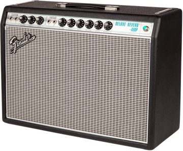 Fender '68 Custom Deluxe Reverb Tube Combo Guitar Amplifier - View 3