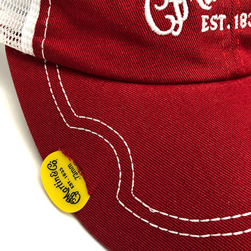 Martin Guitar Hat - Red Baseball Cap - Holds Pick - 18NH0048 - View 2