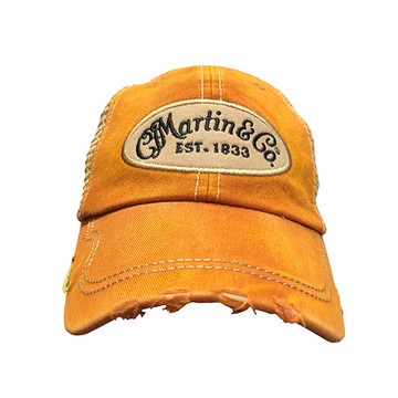 Martin Guitar Hat - Orange Baseball Cap - Holds Pick - 18NH0046