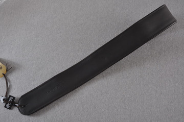 Custom Leather Guitar Strap - Deluxe Black - Martin 18A0029 - View 2