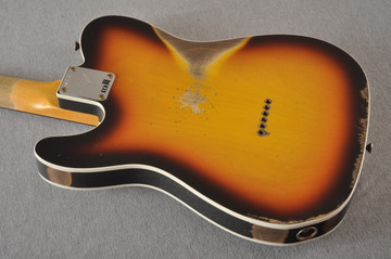 Fender 1964 Telecaster Custom Shop Heavy Relic Aged Sunburst - View 5