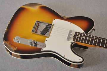Fender 1964 Telecaster Custom Shop Heavy Relic Aged Sunburst - View 9