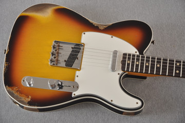 Fender 1964 Telecaster Custom Shop Heavy Relic Aged Sunburst - View 11